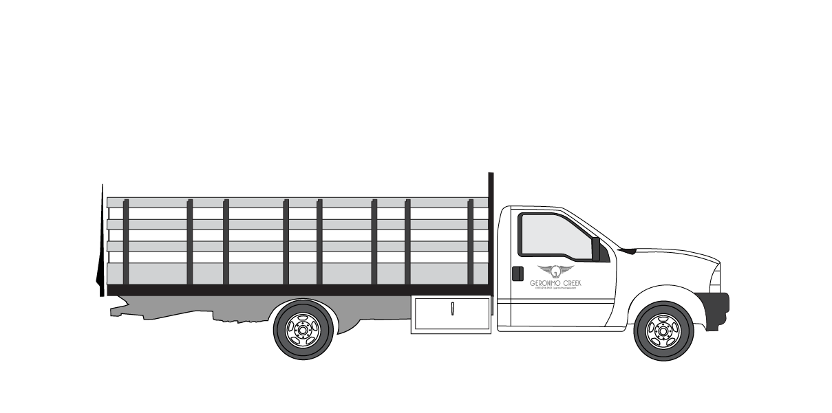 16ft studio stake bed F550 single cab